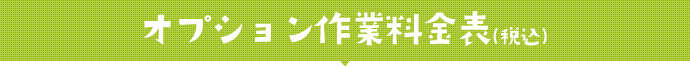 オプション作業料金表(税込)